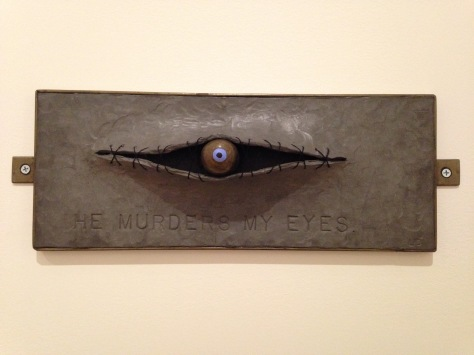 Louise Bourgeois 'He Murders My Eyes' 1999