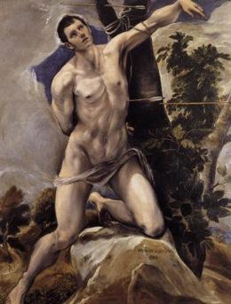St Sebastian (c. 1577) - El Grecco