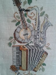 Irene Wade Musical cross-stitch c.1980
